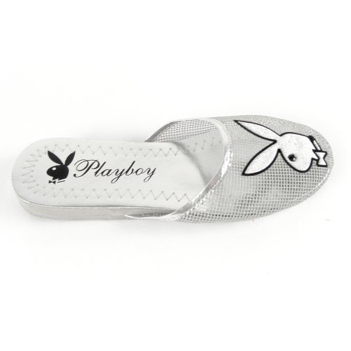 Cheap Women's Playboy Bunny Mesh Slipper Sandals Silver , 5-10 (B007O45QHC)