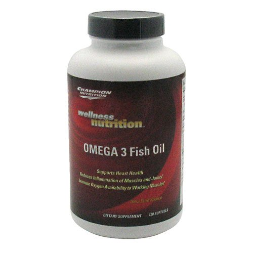 Champion Nutrition Wellness Nutrition Omega 3 Fish Oil, 120 Sgels