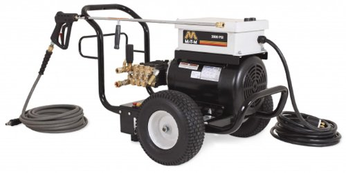 Mi-T-M Jp-3004-0Me3 Jp Series Cold Water Electric Direct Drive, 8.0 Hp Motor, 230V, 20A, 3000 Psi Pressure Washer