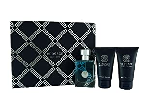 Versace Gift Set for Him New Homme Eau De Toilette 50ml and Shower Gel 50ml and Aftershave Balm 50ml