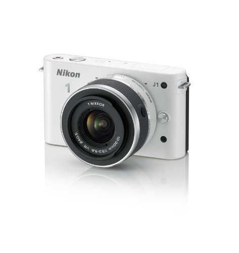 Lowest Price! Nikon 1 J1 Digital Camera System with 10-30mm Lens (White) (OLD MODEL)
