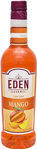 Eden Gourmet - Mango Naturally Flavored Syrup 750 ml bottle - Pump Included (Iced Molasses Cookies compare prices)