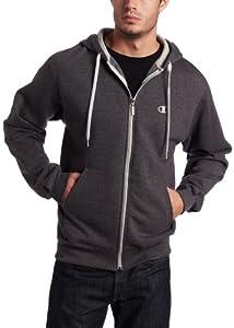 Champion Men's Eco Fleece Full Zip Hoodie, Granite Heather, X-Large