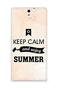 Amez Keey Calm and Enjoy Summer Back Cover For Sony Xperia C5