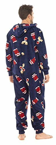 Brand-New-Mens-Christmas-Xmas-Hooded-Onesie-Sleepsuit-Pyjamas