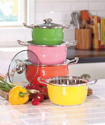 8-pc. Colorful Cookware Set