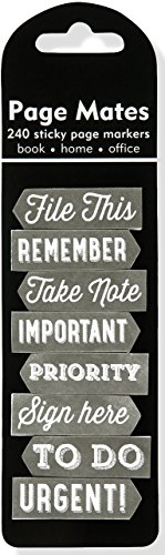 Chalkboard Page Mates (Set of 240 Sticky Notes, Page Markers)
