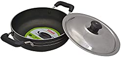 Tosaa Non-Stick Kadhai with Lid , 19 cm