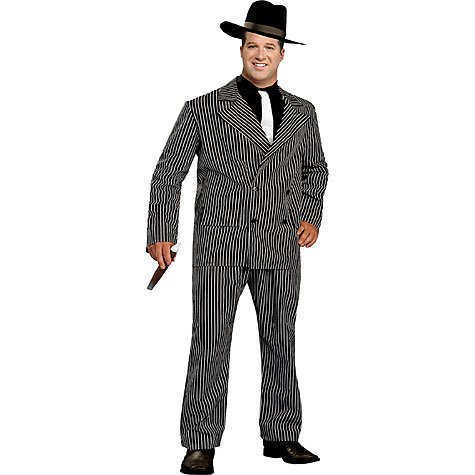 Mens Plus Size 1920s Gangster Costume
