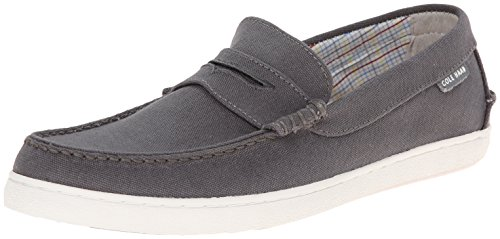 Cole Haan Men's Pinch LTE Penny Loafer, Grey Fabric/White, 11.5 M US