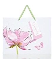Large Floral Pink Watercolour Design Gift Bag
