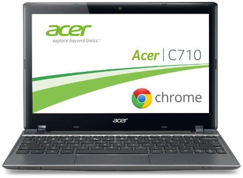 """Acer NU.SH7EG.003 - Portátil de 11.6"""" (Intel celeron, 2 GB de RAM, 320 GB, Intel, Chrome), plateado - Teclado QWERTZ"""