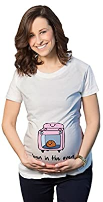 Maternity Bun In The Oven T-Shirt Cute Funny Graphic Pregnancy Tee
