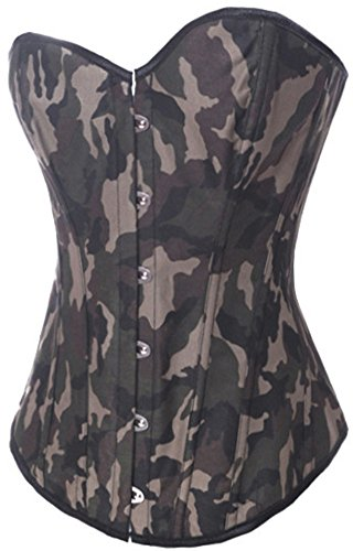 L2SGO Women's Sexy Women Army Camouflage Fashion Corset, Halloween Costume