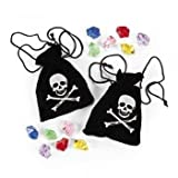 Suede Pirate Drawstring Bags With Jewels (1 dz) thumbnail