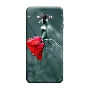 Desicase Samsung A8 Hardy Rose 3D Matte Finishing Printed Designer Hard Back Case Cover (Pink)