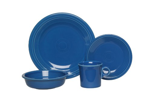 Fiesta 4-Piece Place Setting, Lapis (The Homer Laughlin China Company compare prices)