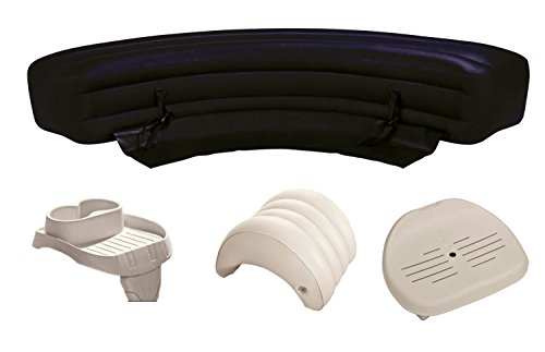 Intex PureSpa Hot Tub Accessories Package - Headrest, Bench,
