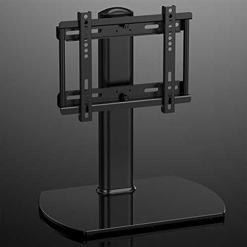 fitueyes universal tv stand base swivel tabletop tv stand with mount for up to 37 inch flat. Black Bedroom Furniture Sets. Home Design Ideas