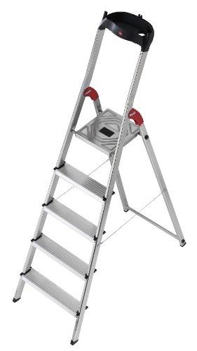 Hailo 8505-001 L60-Model 225-Pound Capacity ANSI Certified Aluminum Ladder, 6-Foot