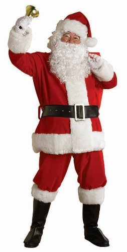 Extra Large Regal Deluxe Plush Santa Suit 6 Piece - Xl