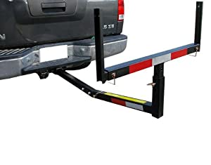 Pickup Truck Bed Hitch Mounted Extender Rack