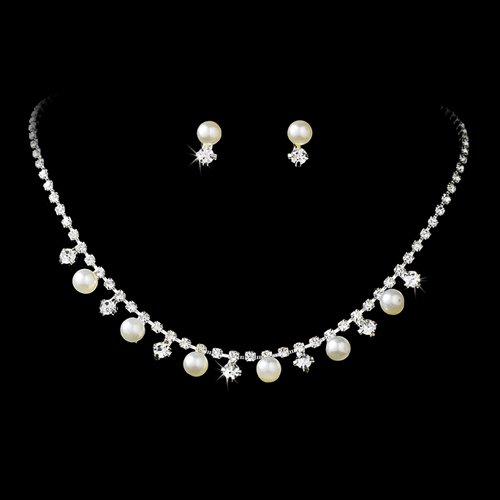 Buy Bridal Wedding Jewelry Set Crystal Rhinestone Pearl Simple