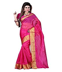 JMT Women's Silk Saree ( JMT103 _ Pink )