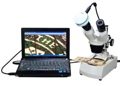 Omax 20X-40X-80X Digital Binocular Stereo Microscope With Dual Lights System And 2.0Mp Usb Digital Camera