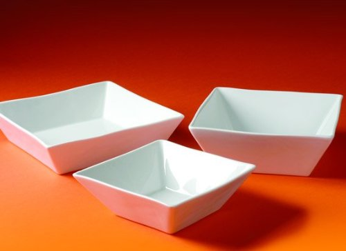 Pillivuyt Quartet 1 Quart Square Bowl; White