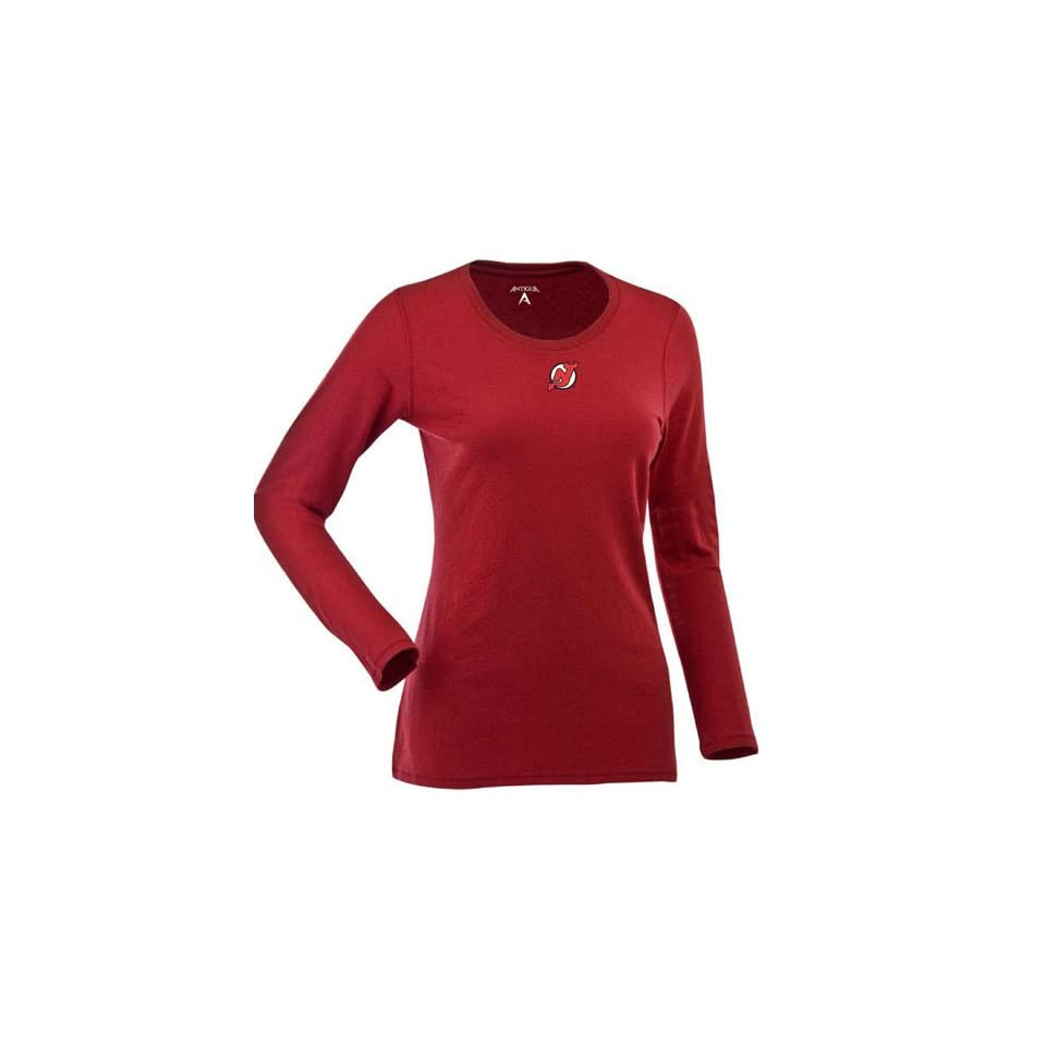 New Jersey Devils Womens Relax Long Sleeve Tee (Team Color)