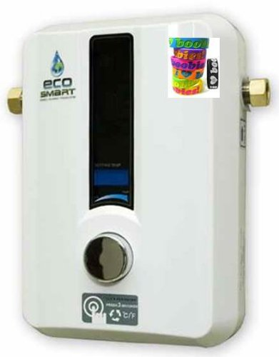 Ecosmart 11 Kw Electric Tankless Water Heater For Use In Southern Us (240 Volt) (57 Amps). Capable Of Heating 2 Gallons Per Minute At Temperatures As Low As 67°. Help Increase Breast Cancer Awareness - With A Free I Love Boobies Bracelet.