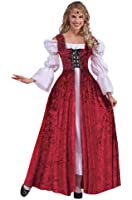 Forum Novelties Women's Medieval Lace-Up Costume Gown