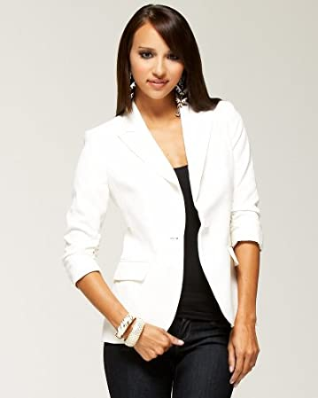 bebe Shirred 3/4 Sleeve Jacket