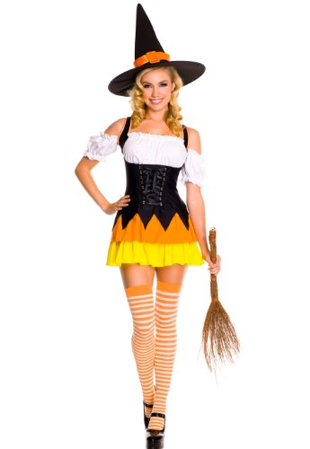 Halloween Candy Corn Witch Costume