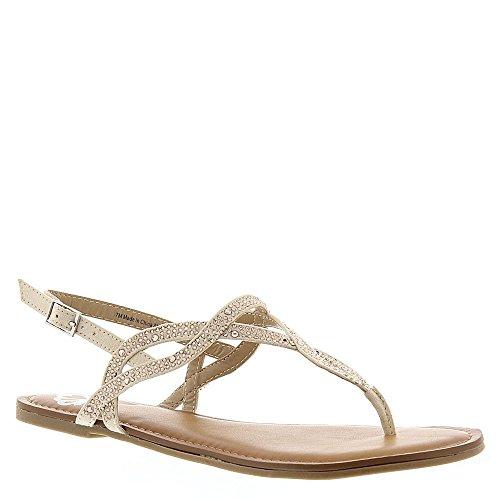 Fergalicious Sylvia Women's Sandal, Nude Fabric, Size 8.5
