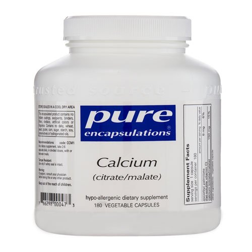 Pure Encapsulations Calcium Citrate Malate - 180 Capsules