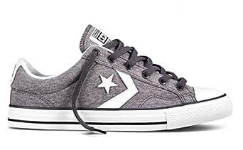 Converse Star Player Ox Shoes - Graphite / White - UK 6 / US Mens 6 / US Women 8 / EU 39