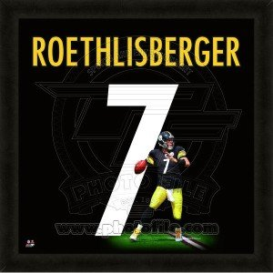 Ben Roethlisberger Pittsburgh Steeler 20x20 Framed Uniframe Jersey Photo by Biggsports