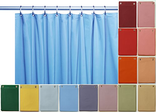 Elegant Home® Heavy Duty Vinyl Shower Curtain Liner with 12 Metal Grommets (Vinyl Shower Liner compare prices)