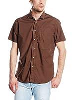 DonDup Camisa Hombre (Marrón)