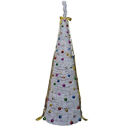 Homcom-Albero-di-natale-artificiale-con-base-incluse-decorazioni-e-illuminazione-a-fibre-ottiche-120-150-180-210-cm