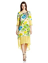 Rain and Rainbow Women's Shift Dress (4301-SS/02-14_Yellow_X-Large)
