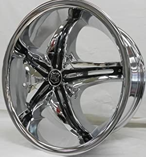 K9 K138 17X7.5+35 4X108+4X114.3 C.B 73.1 CHROME BLACK INSERTS[FORD, ACURA, DODGE, HONDA]