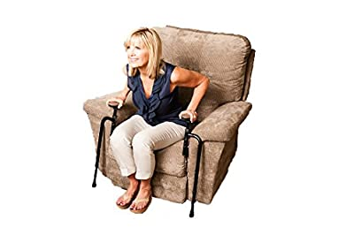 Stander EZ Stand-N-Go - Ergonomic Support Handles and Adjustable Standing Aid for Couch/Chair or Recliner, 8.5 Pounds