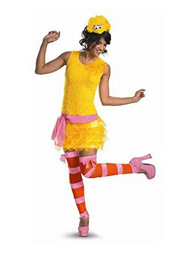 [Big Bird Sassy Costume - Medium - Dress Size 8-10] (Yellow Beak Costume)
