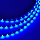 LEDwholesalers 16.4 Feet (5 Meter) Flexible LED Light Strip with 300xSMD3528 and Adhesive Back, 12 Volt, Blue, 2026BU