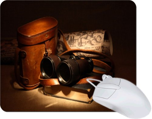 Rikki Knighttm Vintage Old Binoculars With Bag Tanpad Ultra Thin Mouse Pad Ideal For All Laptops, Notebooks, Macbook Air, Macbook Pro