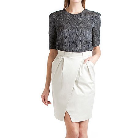 Brian Reyes Stone Wrap Pencil Skirt