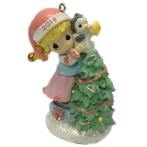 2014 Precious Moments Girl Decorating Christmas Tree Ornament